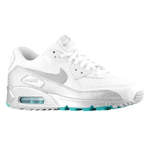 Women's Nike Air Max 90 | Foot Locker White/Metallic Silver/Turbo Green/