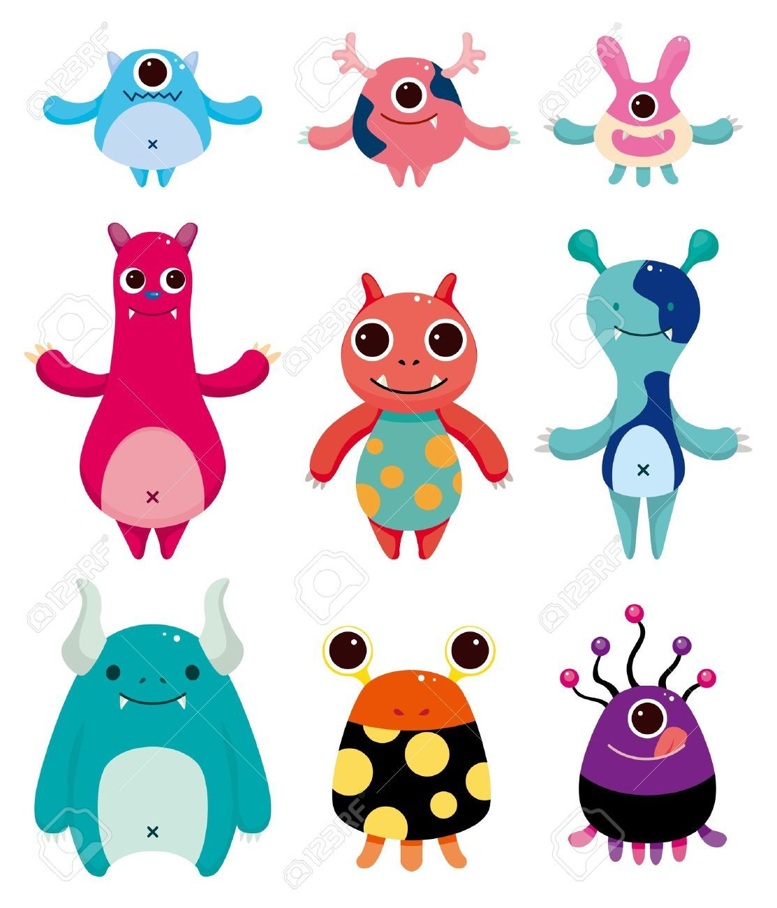 cute monster illustrations google search cute monsters
