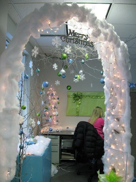 Christmas Cubicle Winter Wonderland Decorating Ideas Winter