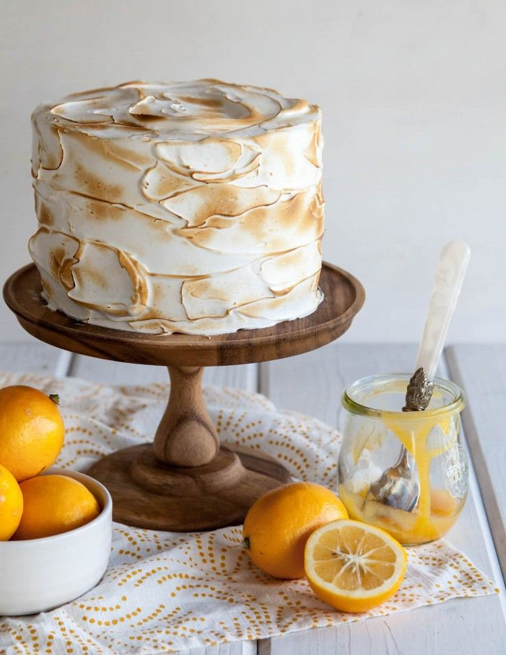 Lemon Meringue Cake - Style Sweet CA