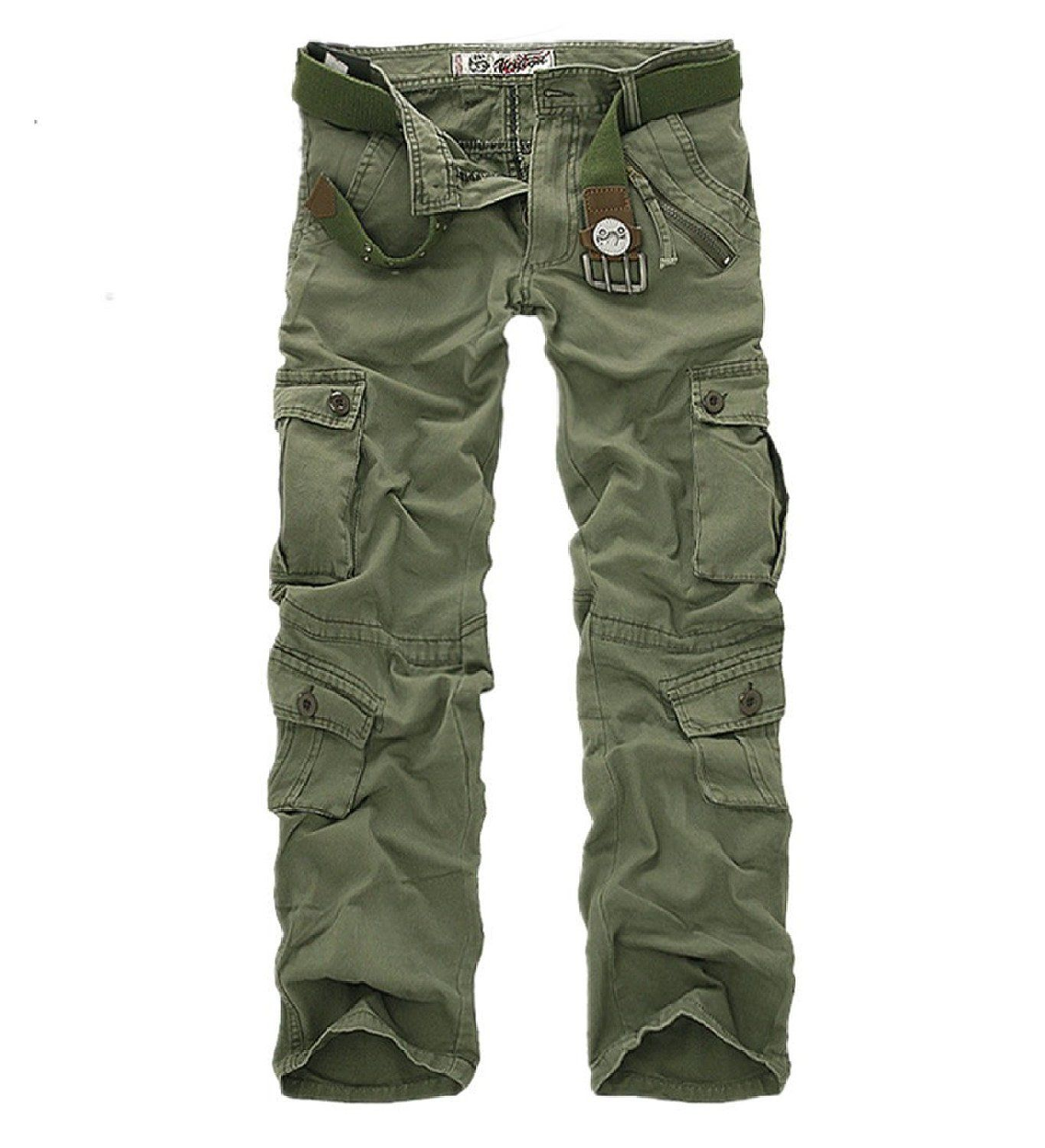 21c76d8fe2cf2 Crazy Men's Woodland Military Cargo Outdoors Pants Combat Trousers: Amazon. co.uk: Clothing