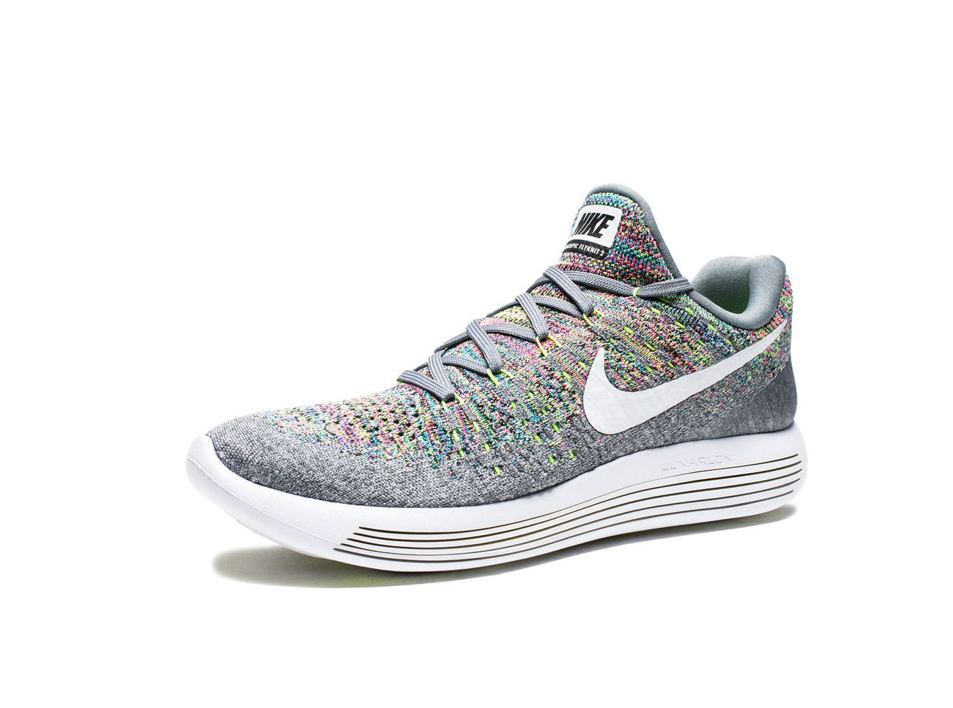 a78398f9a240 NIKE LUNAREPIC LOW FLYKNIT 2 - COOL GREY WHITE VOLT BLUE GLOW ...