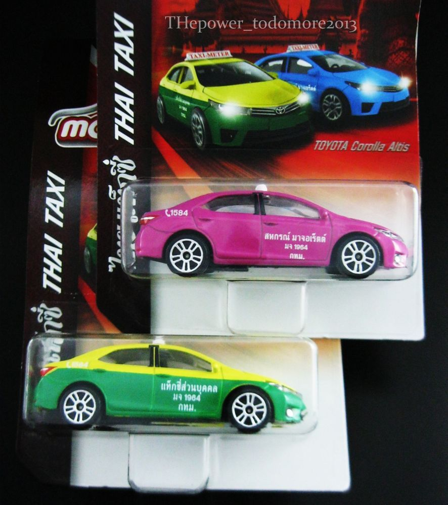 2 Majorette Toyota Corolla Altis Thai Taxi Limited Edition 2017 Recently  Arrived