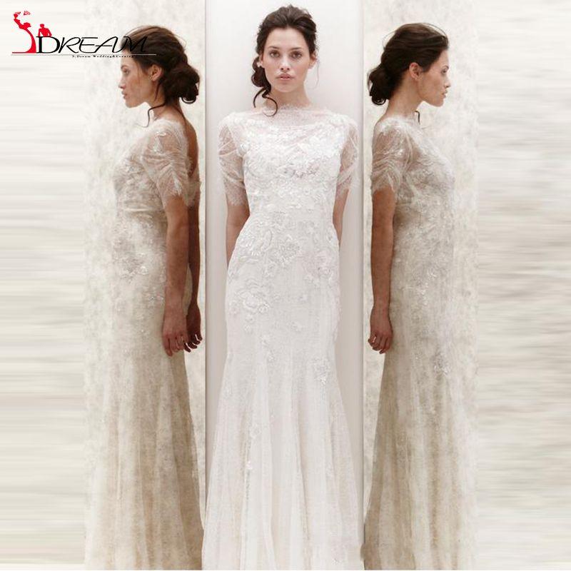 Encontrar Más Vestidos de Novia Información acerca de Moda Jenny Packham verano boda vestidos sin espalda…