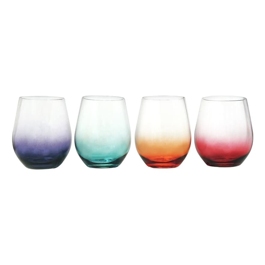 75087180c52 Food Network 4-pc. Ombre Acrylic Stemless Wine Glass Set in 2019 ...
