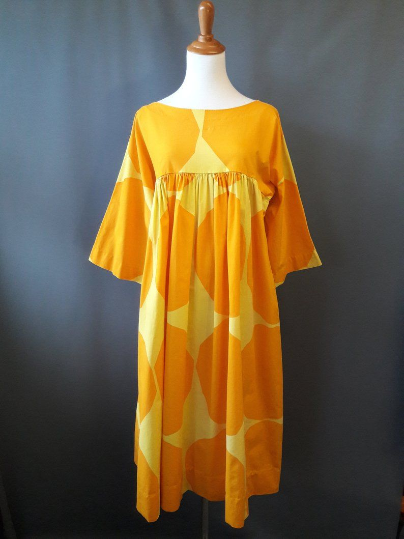 Vintage Clothing Do You Think Its Coming Back: 1970s Marimekko Liidokki Dress, No Tags But Correct