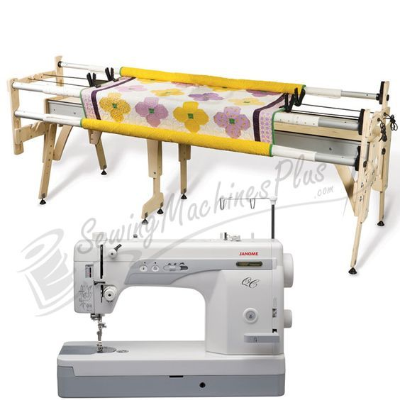 Janome 1600P-QC Sewing Machine w/ Grace Queen Quilting Frame ...