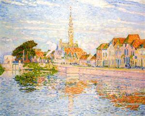 The Quay at Verre, Zeeland - Theo van Rysselberghe