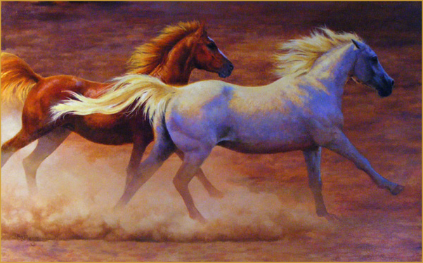 horse painting by Bonnie Marris - Wild Mustangs Running ...