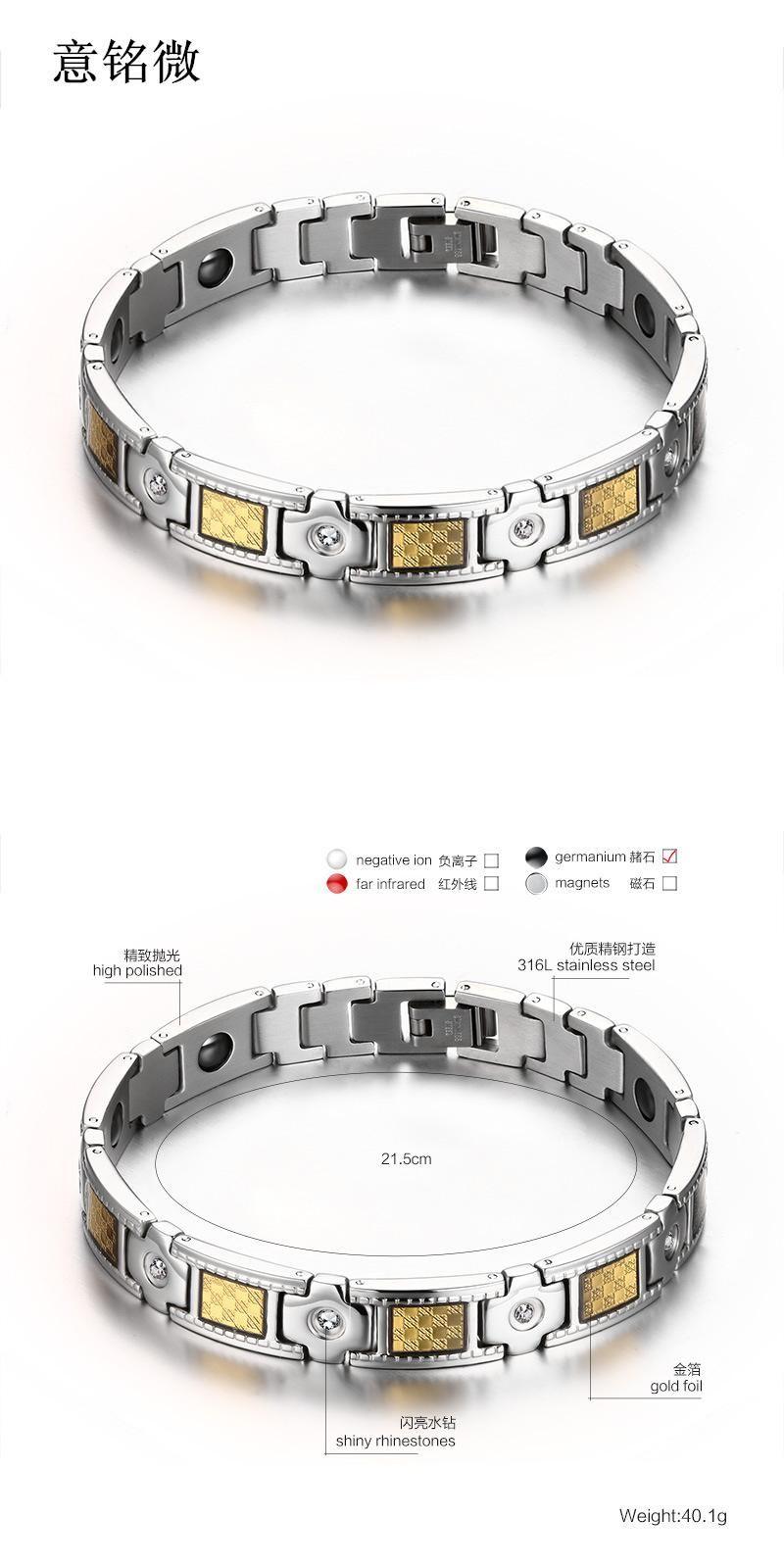 Visit to buy new fashion jewelry men health bracelet l