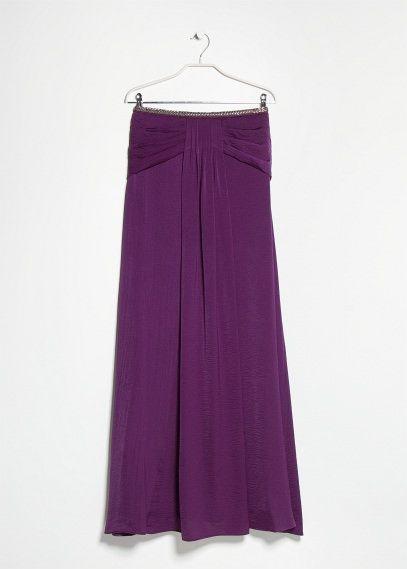 969d74d81 Falda larga pliegues - Faldas de Mujer | MANGO Outlet España | moda ...