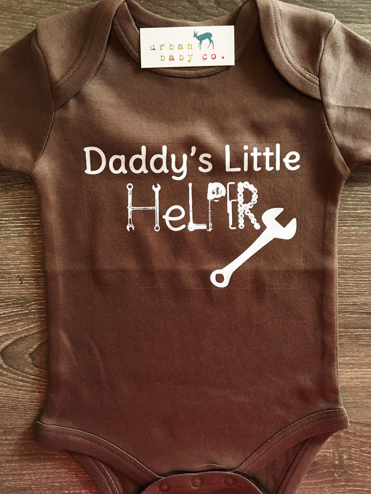 f6143f949 Daddy's Little Helper Baby, Boy, Girl, Unisex, Gender Neutral, Infant,  Toddler, Newborn, Organic, Bodysuit, Outfit, One Piece, Onesie®, Onsie®, Tee,  ...