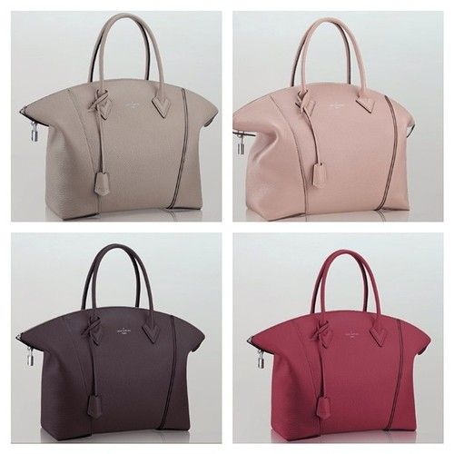 Louis Vuitton Lockit bags: raspberry, galet, Magnolia or Quetshe colors....Also comes in black Cachemere lambskin Contact me to Shop&ship it for you and deliver at your place.