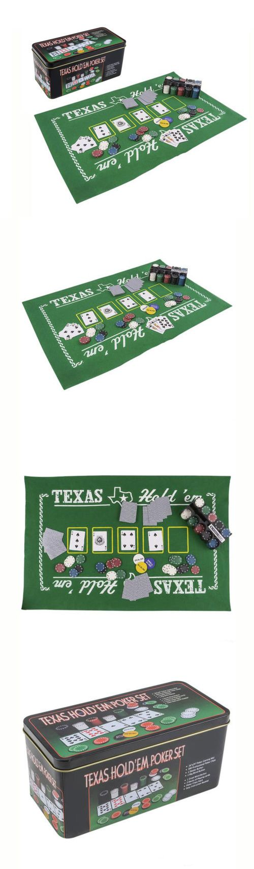 Card Tables And Tabletops 166572: Mozlly Texas Holdem Poker Casino Theme  With Play Mat Sport Gaming Set  U003e BUY IT NOW ONLY: $21.83 On EBay!