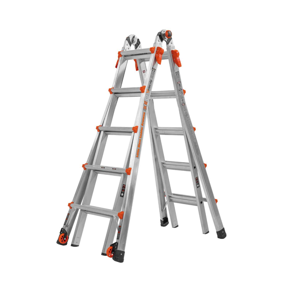 Little Giant 22 Ft H Aluminum Articulating Ladder Type Ia 300 Lb Best Ladder Little Giants Aluminium Ladder