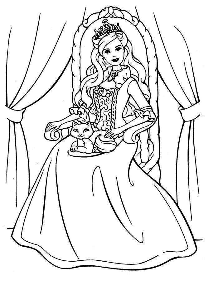 Disney Princess Coloring Book Pages Barbie Coloring Pages Disney Princess Coloring Pages Barbie Coloring