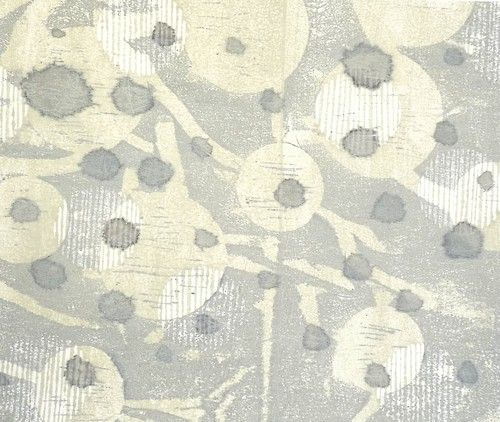 Ann Symes Japanese woodblock print over sumi-e ink spots