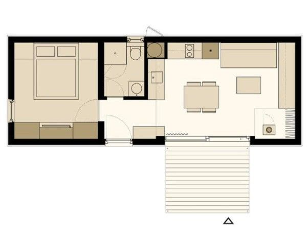 465 Sq Ft Freedomky Modern Prefab Tiny Home Small