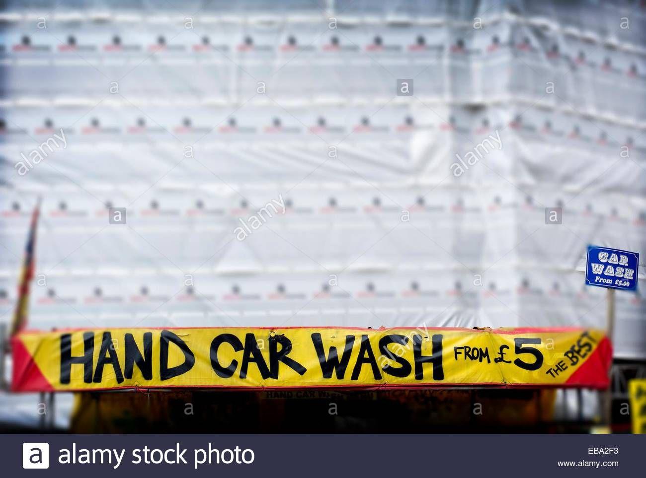 Download this stock image Hand Car Wash, garaje en East