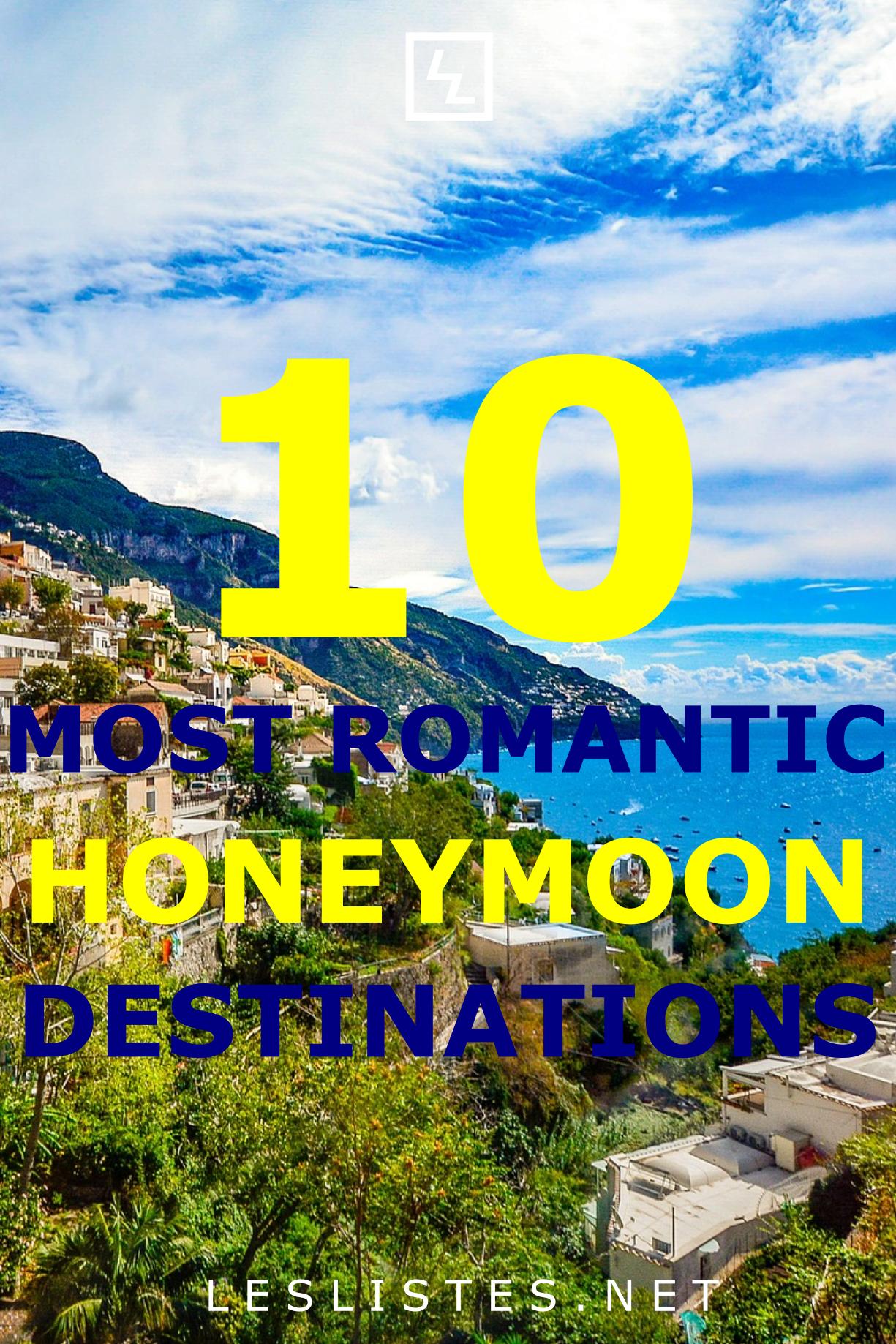 10 Of The Most Romantic Honeymoon Destinations