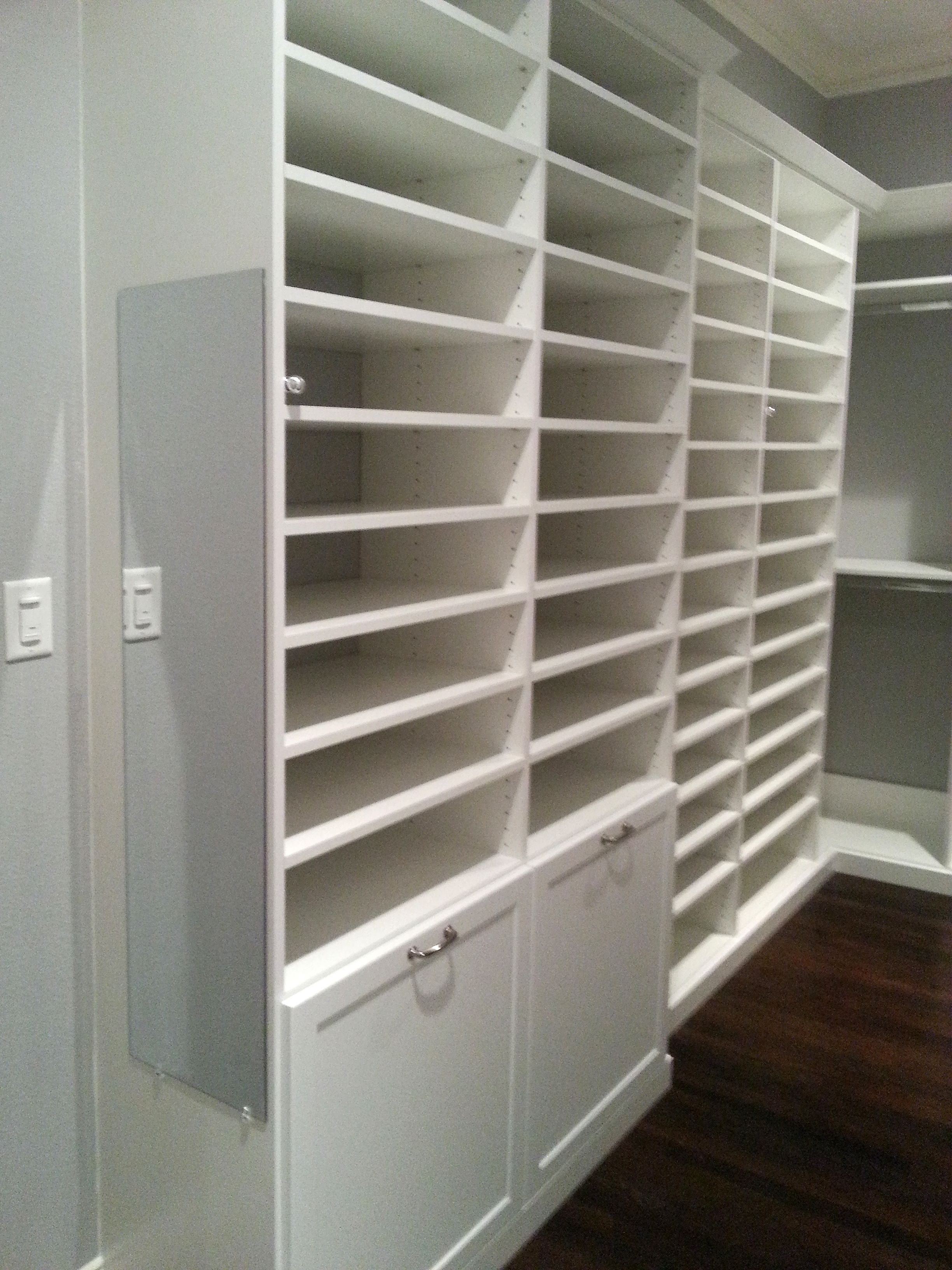 So Much Shoe Storage Potential In This Custom Closet!