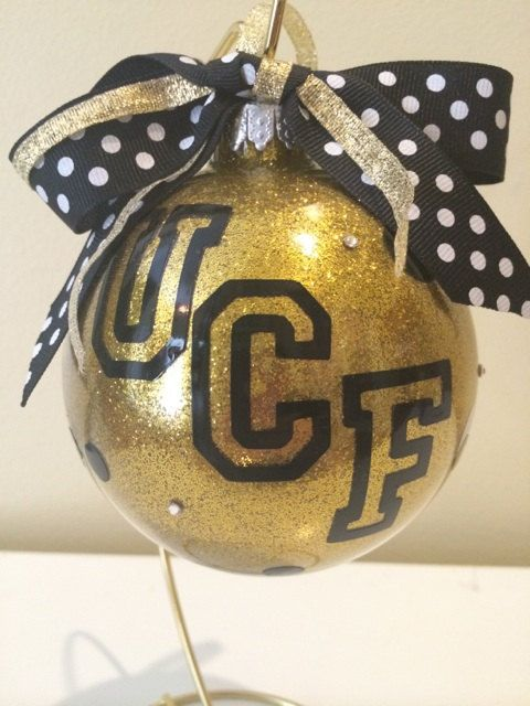 Custom Glitter Personalized Large UCF Glass by PourSomeGlitterOnMe ...
