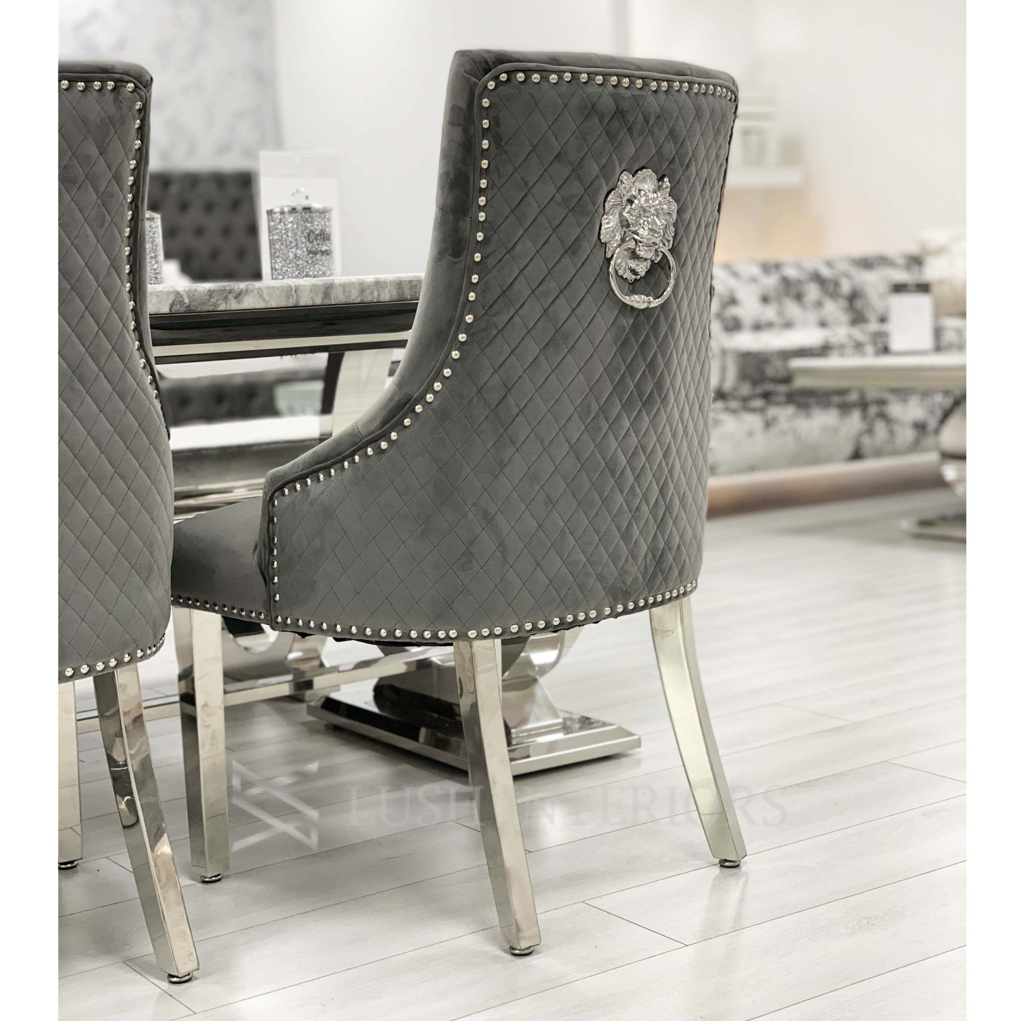 Black Cashmere Knocker Back Dining Chairs Image Copyright Of