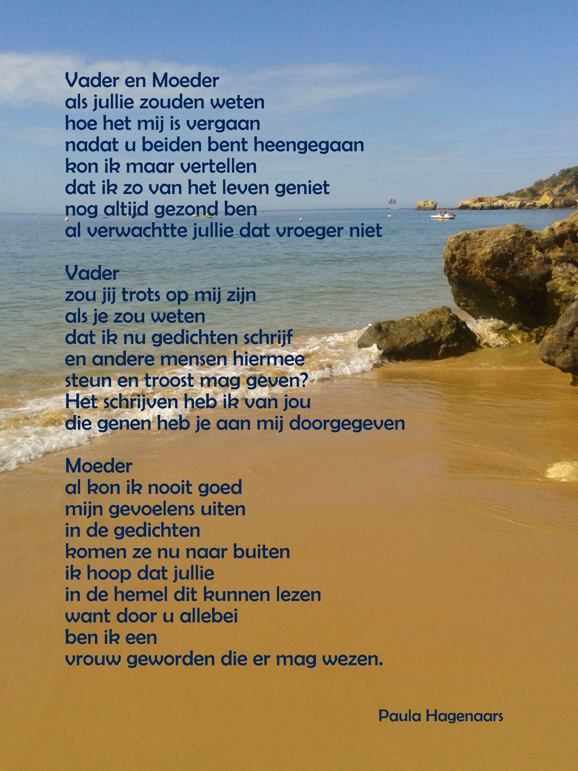 Gedichten Paula Hagenaars Ode Aan Mijn Ouders Gedichten