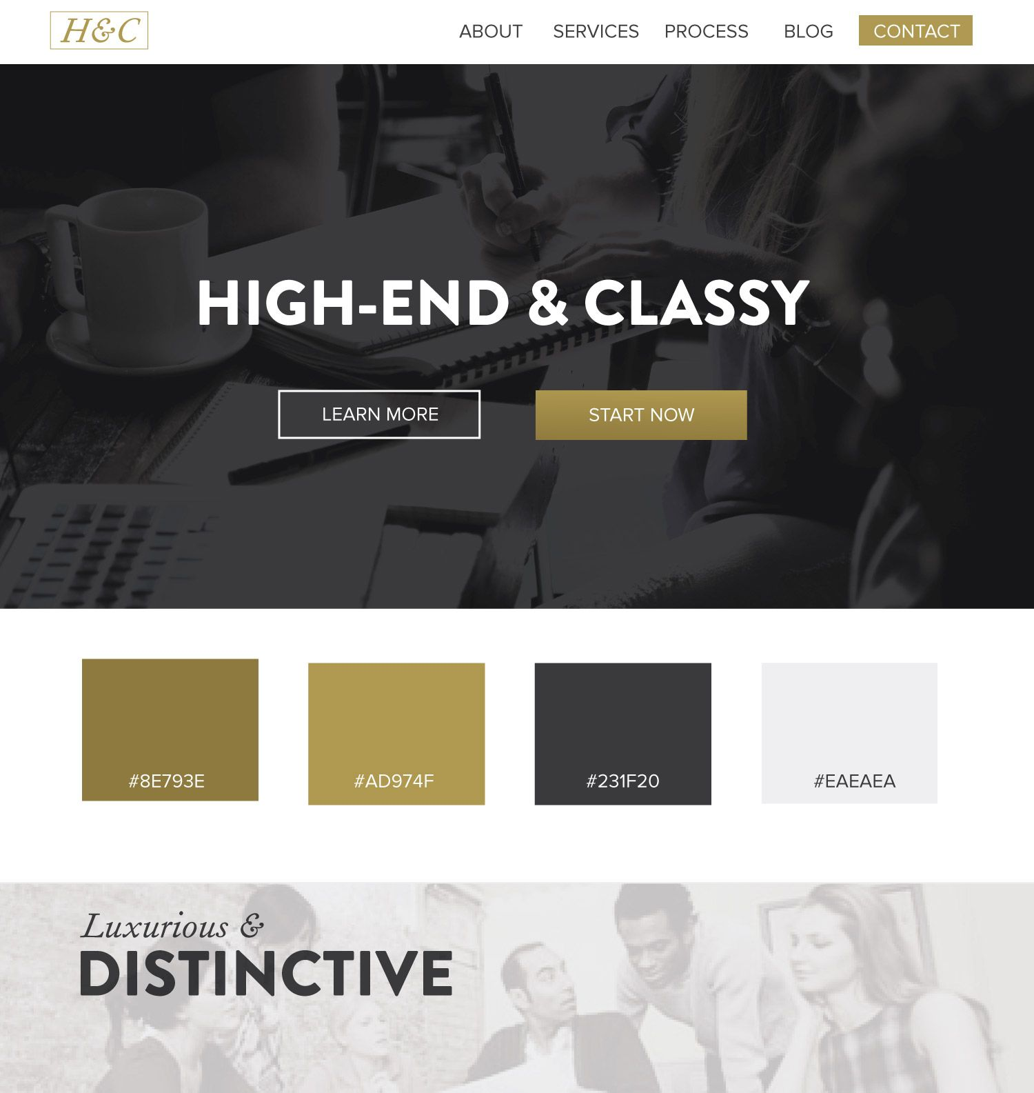 Gold And Black Web Design UI UX Inspiration Color Scheme Ideas