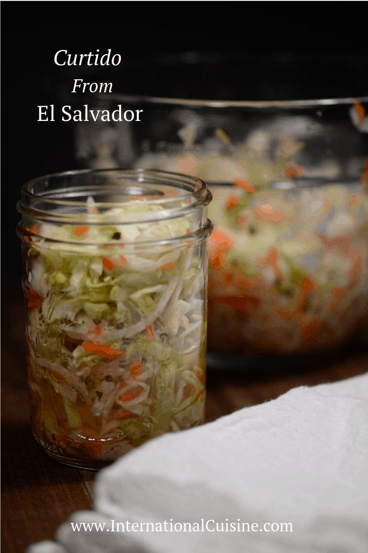 El Salvador Curtido (Cabbage Slaw) - International Cuisine