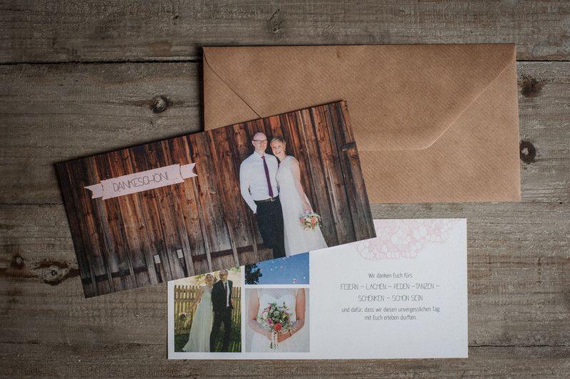"""60x Dankeskarte """"rosa Spitze"""" – vintage von Schneider's Family Business auf DaWanda.com"""