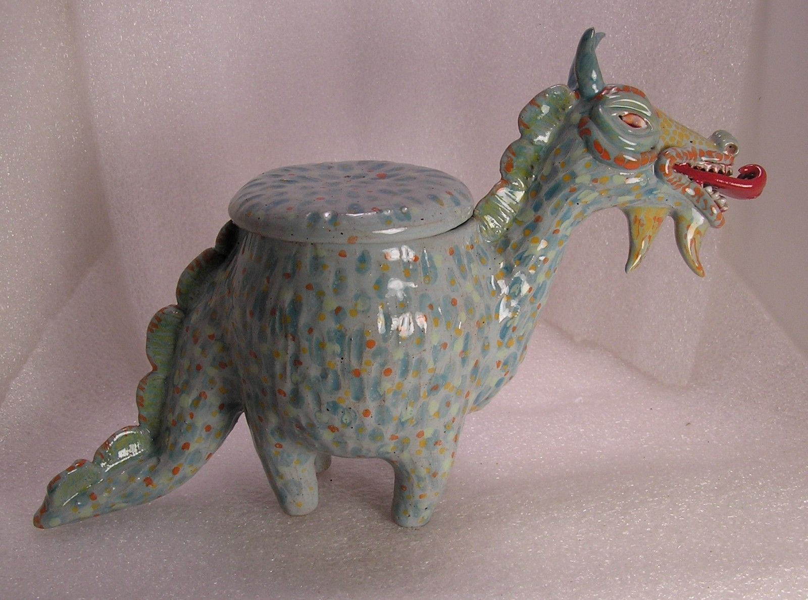 Related pictures split tongue jpg pictures to pin on pinterest - The Forked Tongue Dragon Folk Pot Animal Face Jug Effigy Jar Herb Caddy