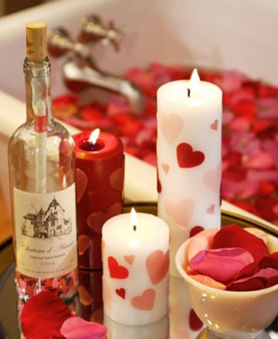 Ideen Zum Valentinstag 14 Deko Ideen Mit Kerzen Zum 14 Februar