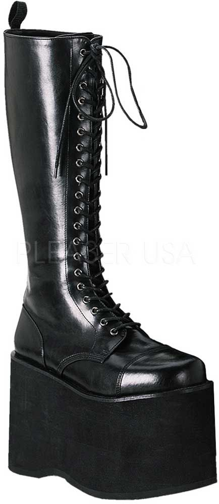 009956b34a3 Goth-Punk-Cyber-Lace-Up-Knee-High-Extreme-Platform-Heel-Boots -Shoes-Adult-Women