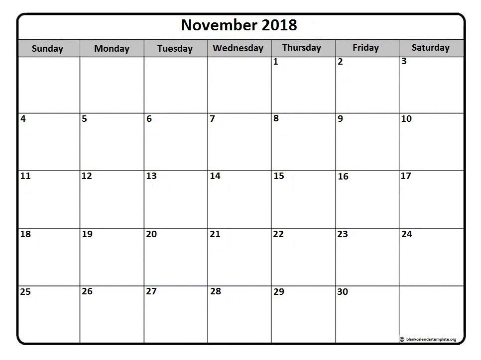 November #calendar #printable November 2018 monthly calendar