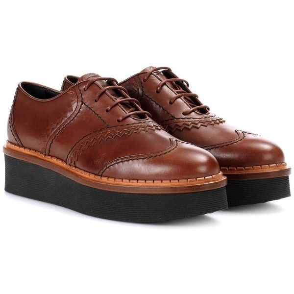Tod's Platform leather Oxford shoes Outlet Cheap Price nGneEV5w