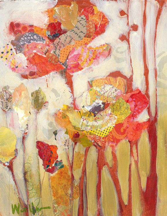 Red Poppies original mixed media painting | Pinterest | Amapolas ...