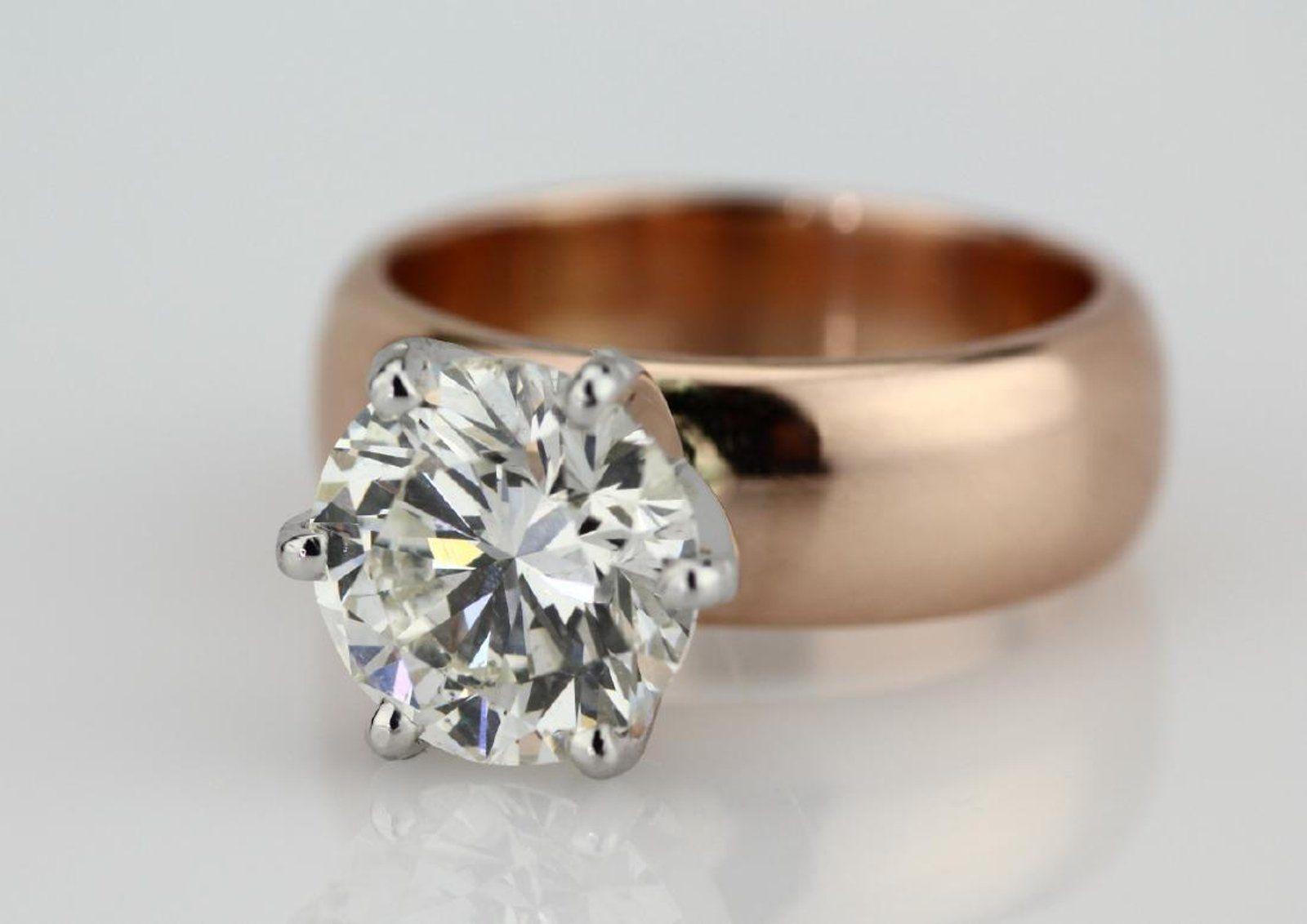 4.01ct SI1/H-I Diamond in 14K Rose Gold Setting - 6