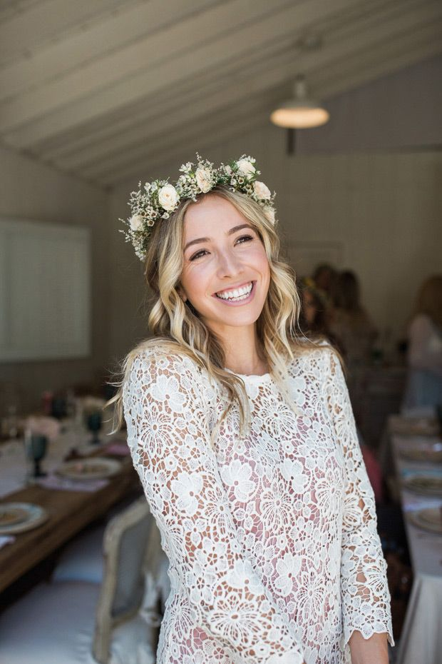 Beautiful Boho Meets Shabby Chic Kendra S Vintage Bridal Shower Onefabday Com Ireland Bridal Flower Crown Wedding Crown Bridal Flowers