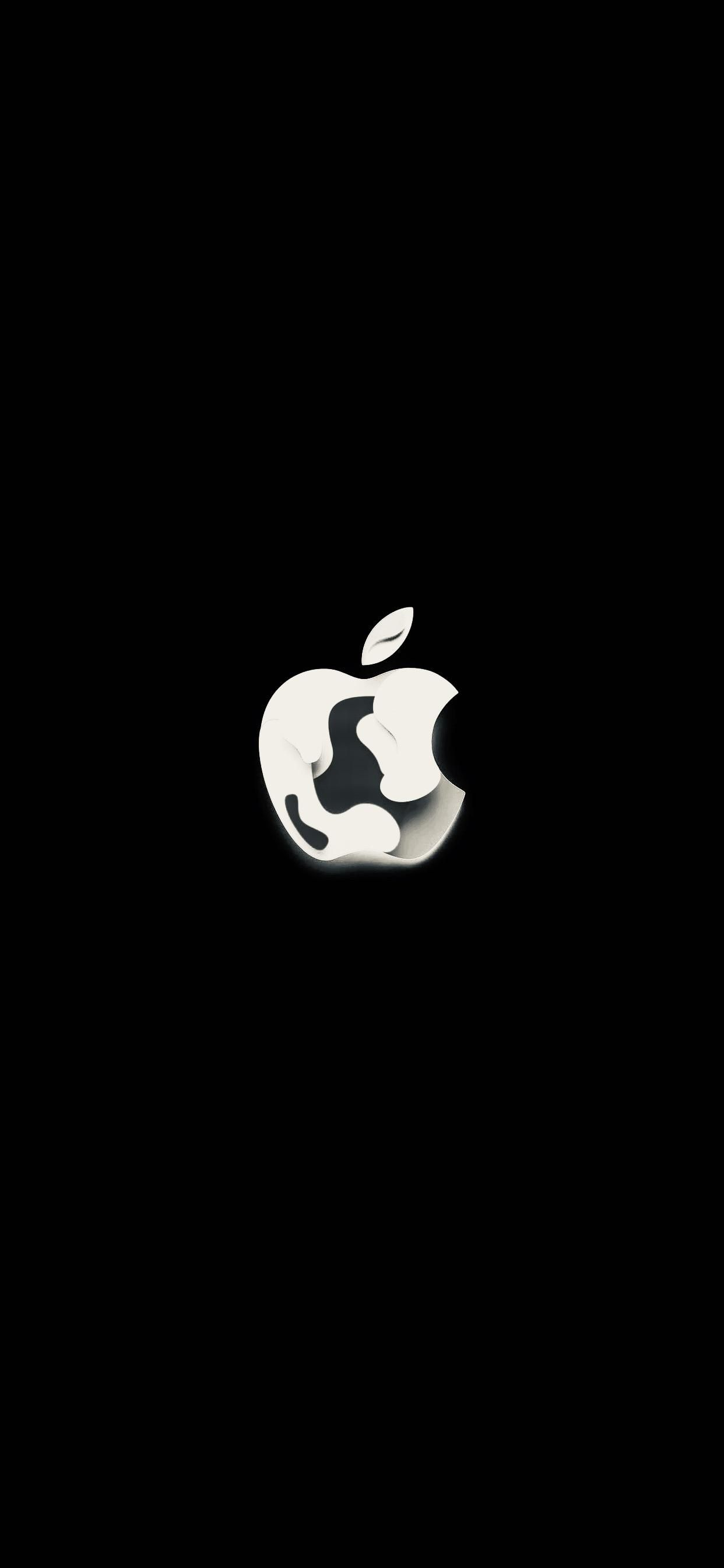Apple Logo Black and White