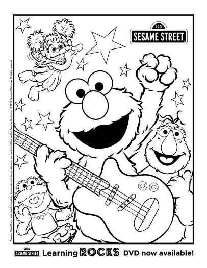Good Free Printable Sesame Street Coloring Page