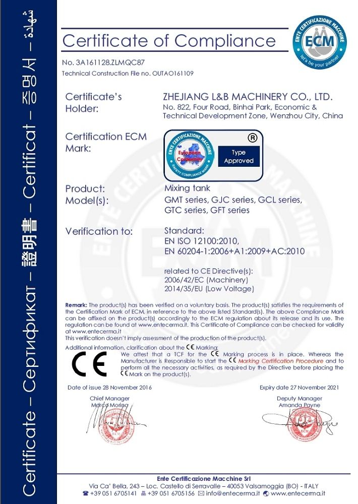 PED certification - Zhejiang L&B Fluid Equipment Co., Ltd. | DESKTOP ...