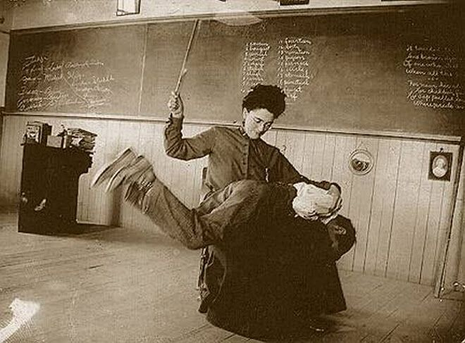 Yes ~ This did happen in school  If you were naughty you got