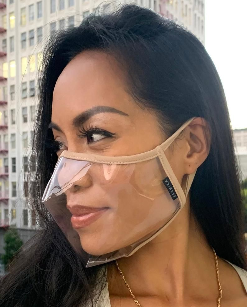 Antifog 100 clear transparent the reveal face mask new