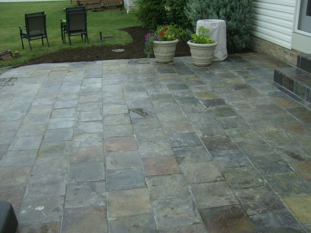 Custom Stone Facing Natural Stone And Stone Tile Installation Patio Tiles Tile Installation Slate Patio