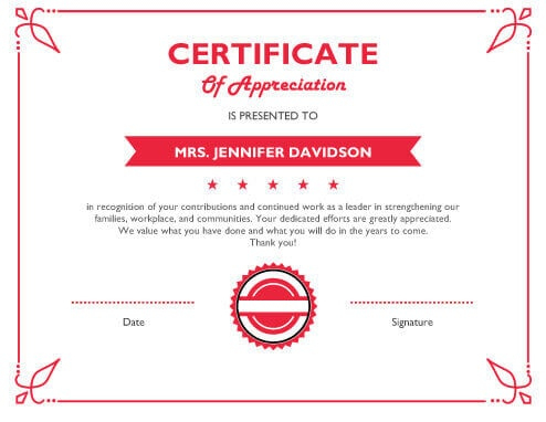 8 Free Printable Certificates Of Appreciation Templates Hloom With Regard In 2021 Certificate Of Appreciation Free Printable Certificates Free Certificate Templates