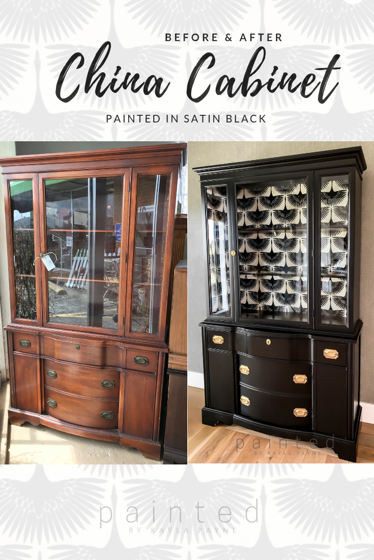 Black Painted China Cabinet images