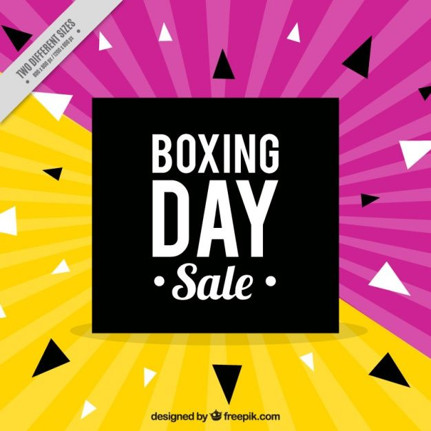 Fundo amarelo e roxo do dia de boxe Vetor Premium