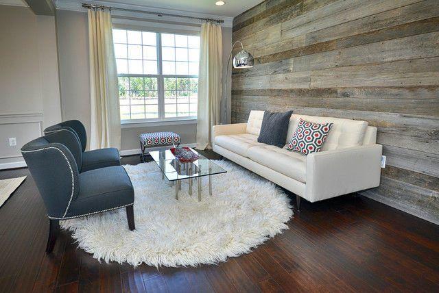 esprit scandinave avec sol en parquet en bois fonc avec des murs en bois et du mobilier clair. Black Bedroom Furniture Sets. Home Design Ideas