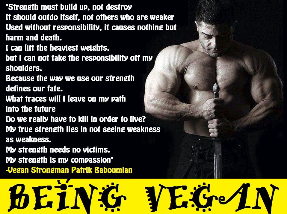 Being Vegan - Vegan Bodybuilder  - builders quotation